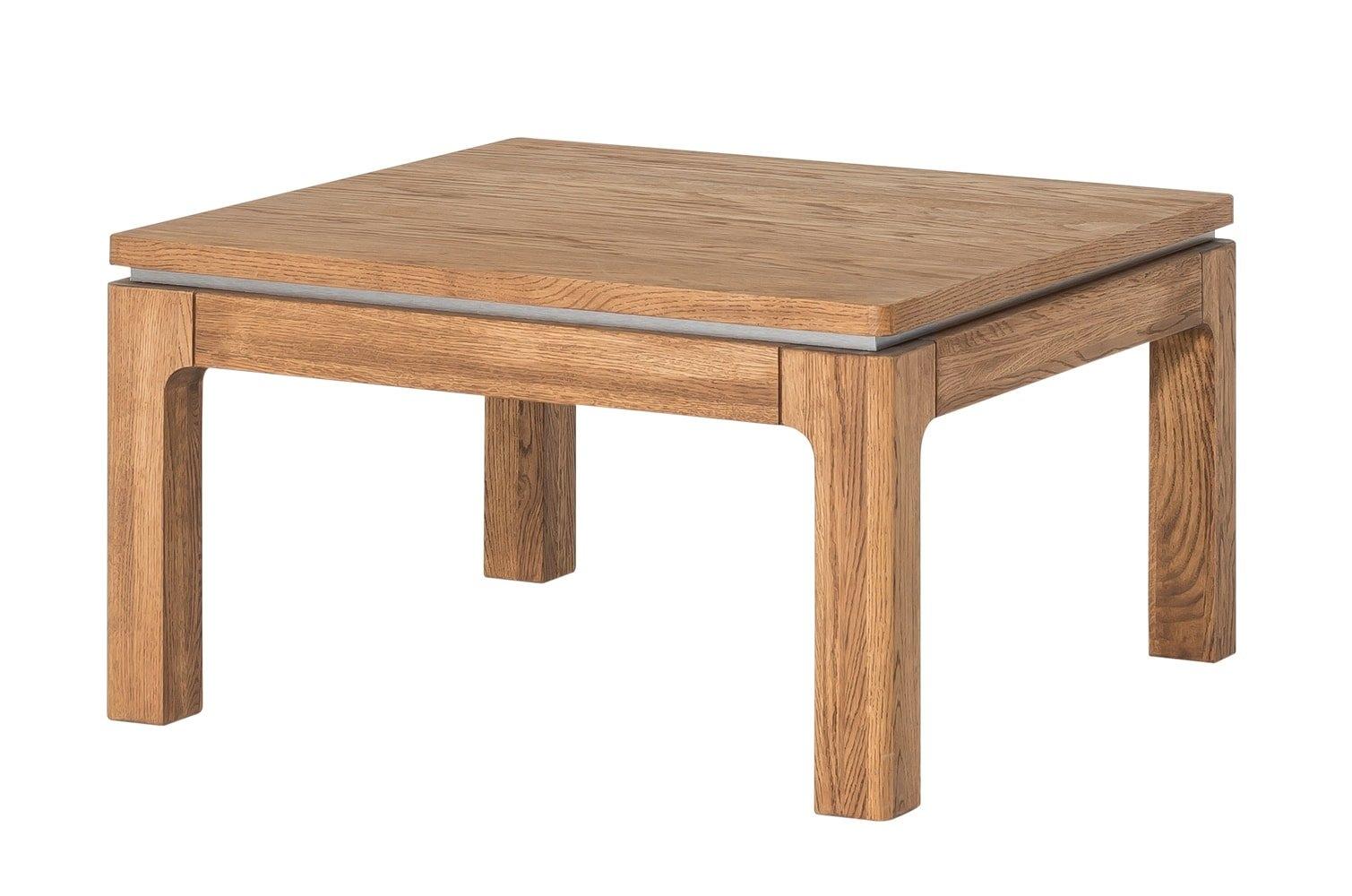 Masa de cafea din lemn si furnir Montenegro 41 Oak L80xl80xH45 cm