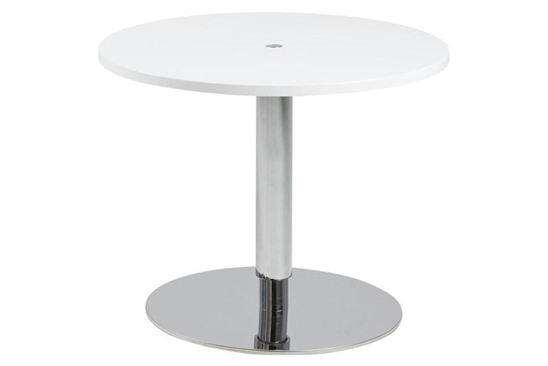 Masa de cafea din MDF si metal Sortello White O80xH42-62 cm