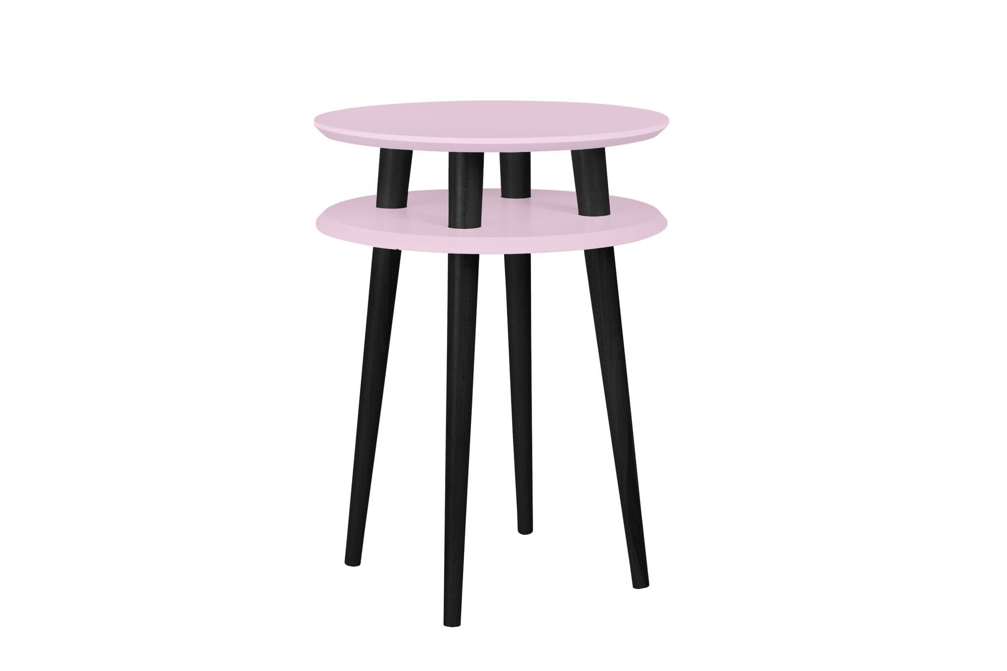 Masa de cafea Ufo High Dusky Pink / Black O45xh61 cm