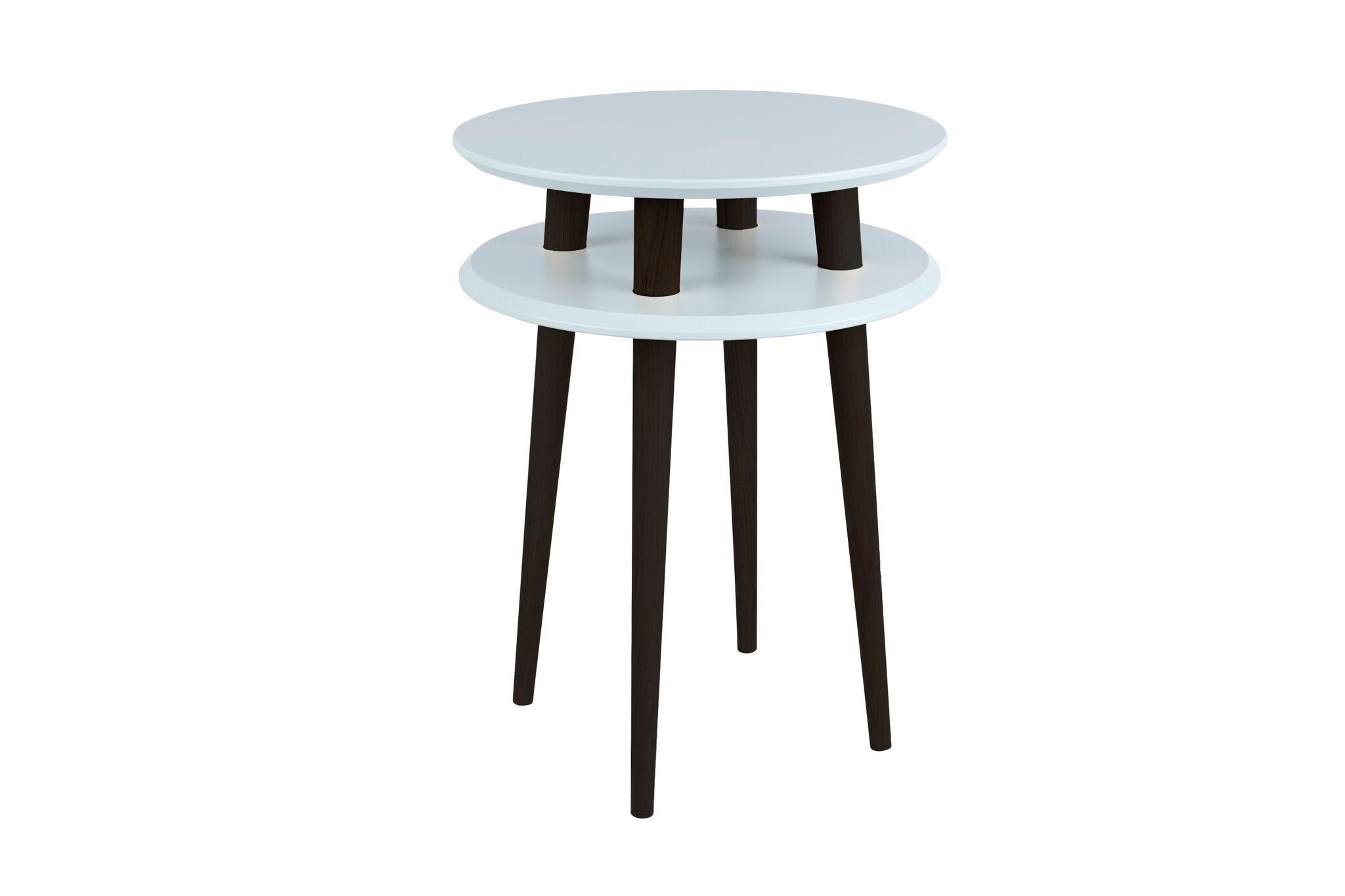 Masa de cafea Ufo High Light Grey / Black O45xh61 cm