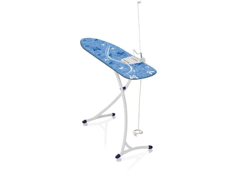 Masa de calcat cu priza electrica si cadru metalic, Air Board XL Ergo Plus Albastru, L140xl38xH75-99 cm