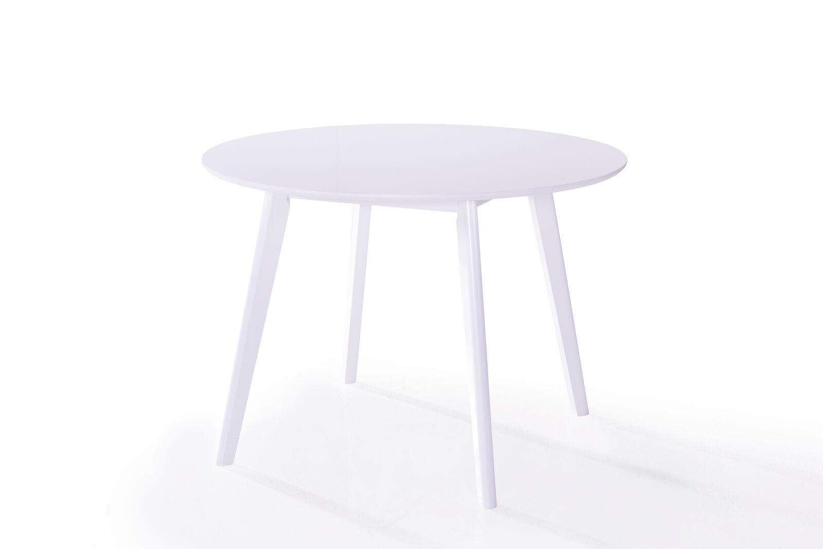 Masa din furnir Isla Round White O106xH75 cm