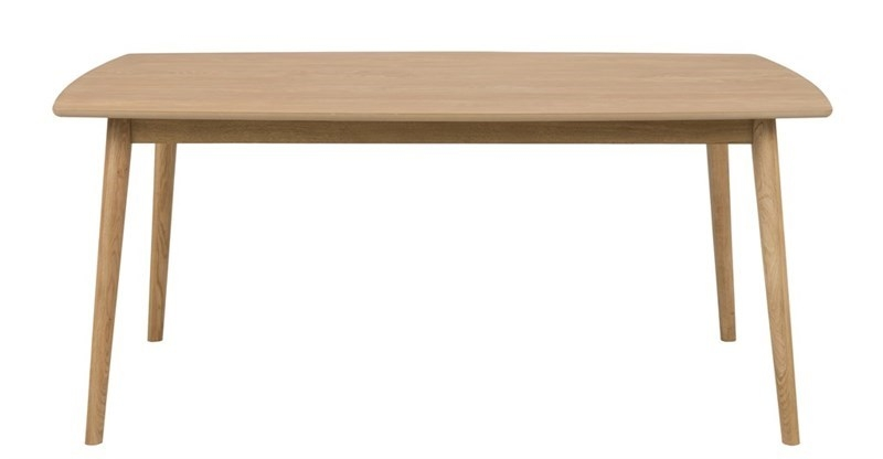 Masa din furnir si lemn de stejar Nagano Oak, L180xl90xH75,5 cm imagine