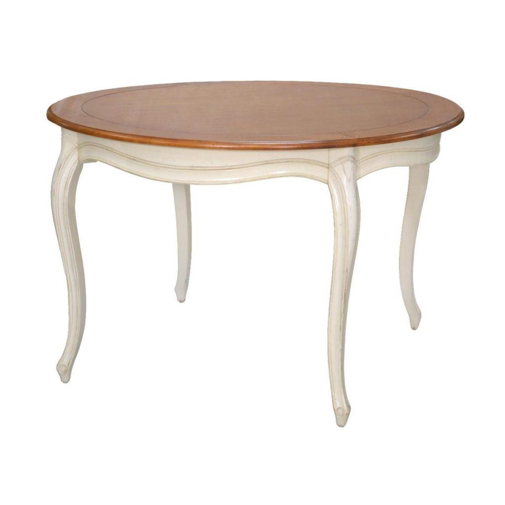 Masa din lemn de mesteacan Verona VE877 O120xh77 cm