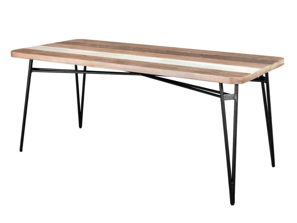 Masa din lemn de salcam si MDF, Adesso D05-140, L140xl60xh76 cm poza