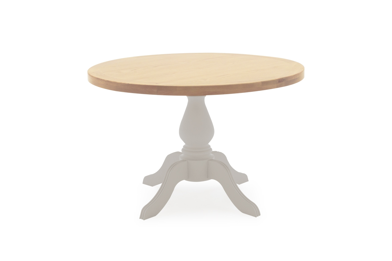 Masa din lemn de salcam si stejar Clemence Round Grey / Oak O120xH77 cm