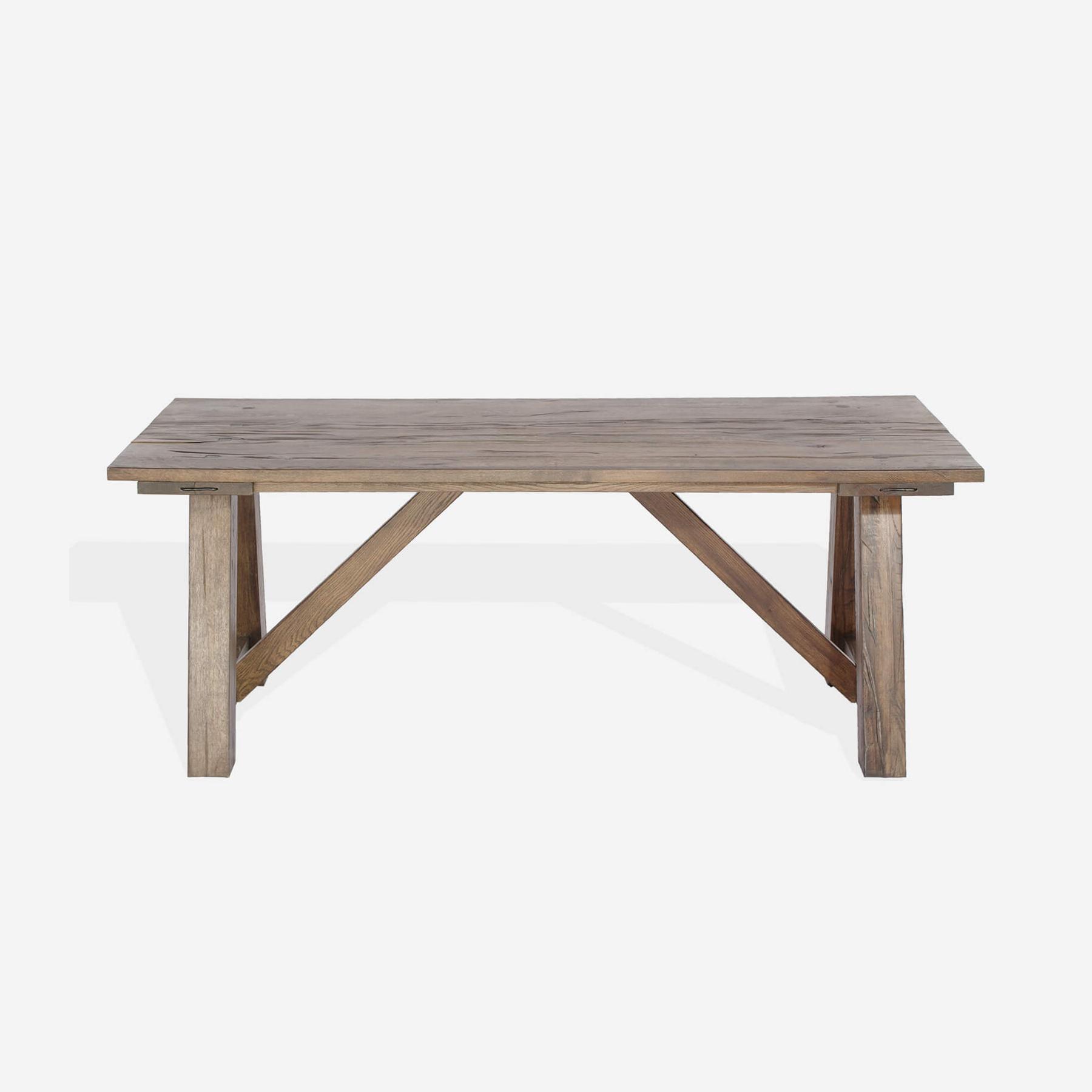 Masa din lemn de stejar salbatic Ares L200xl100xH76 cm