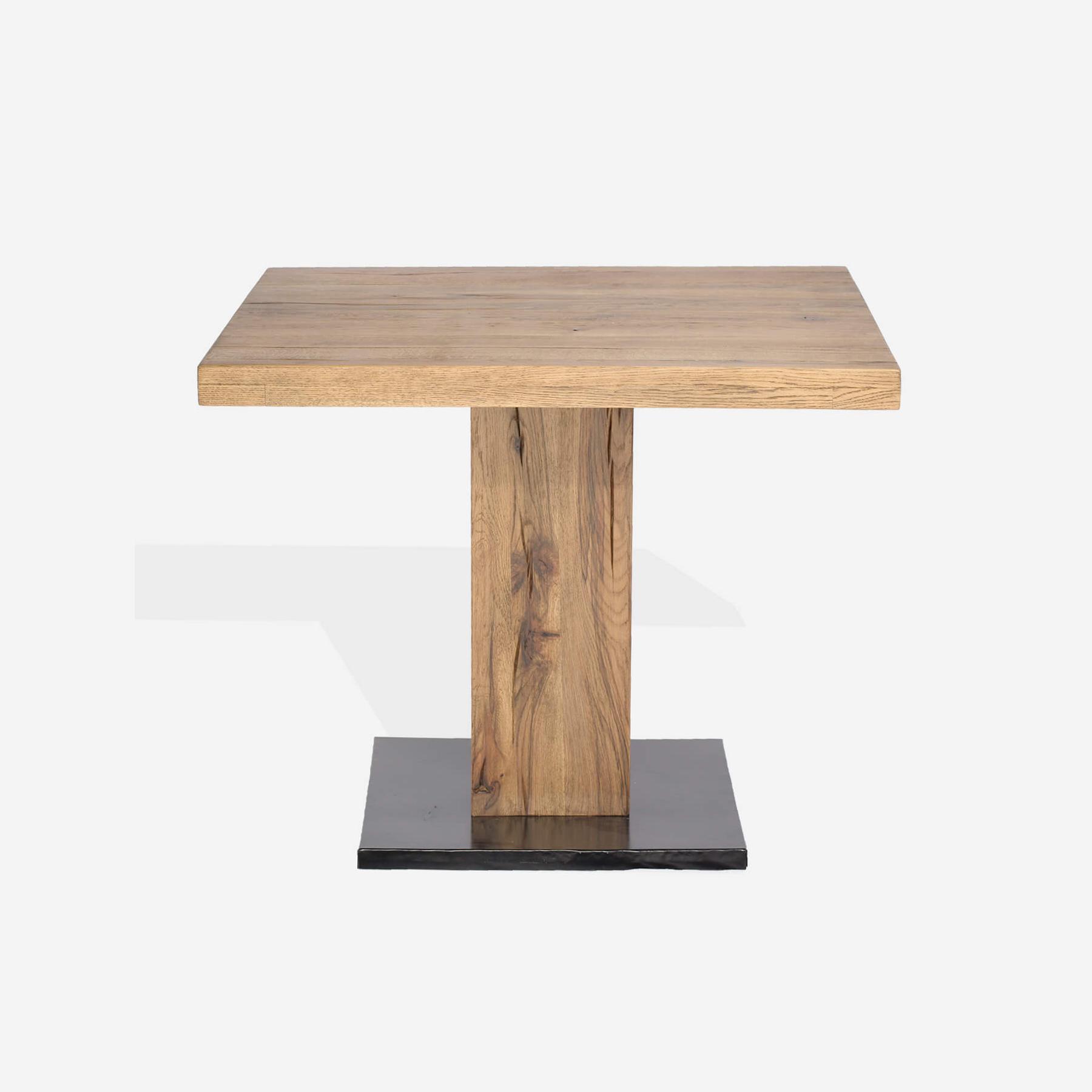 Masa din lemn de stejar salbatic Cayo L80xl80xH78 cm