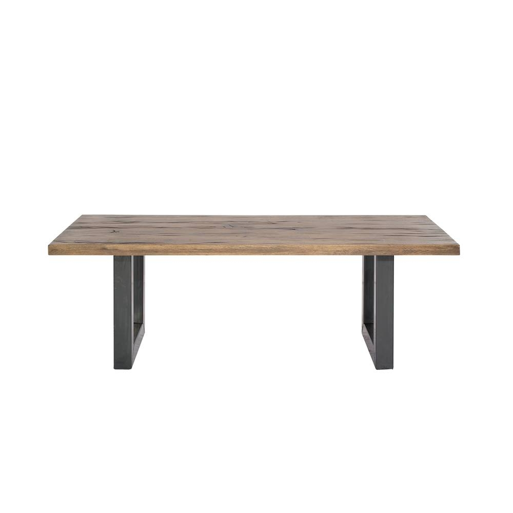 Masa din lemn de stejar salbatic, cu picioare metalice Georgia