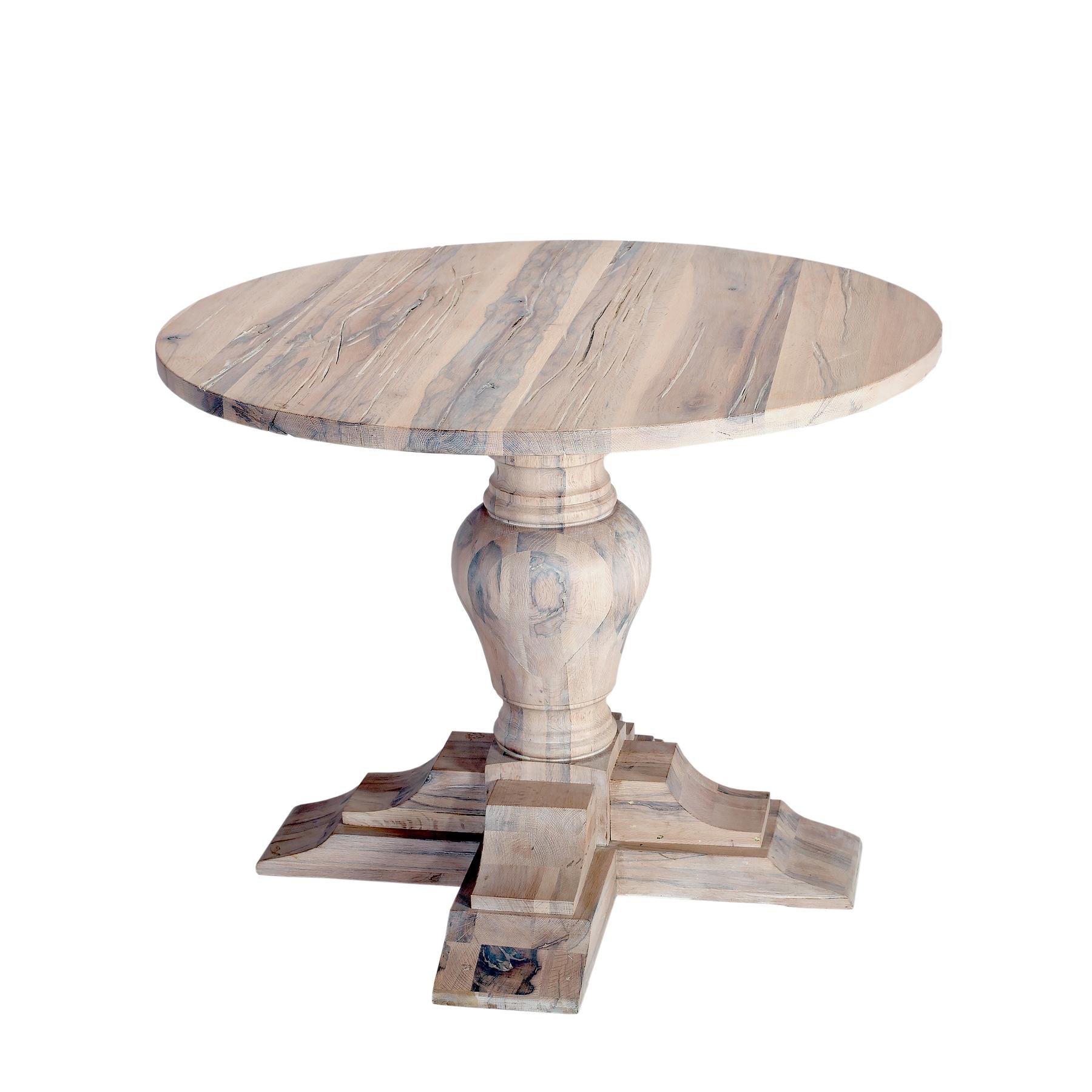 Masa din lemn de stejar salbatic Philadelphia, Ø130xH76 cm