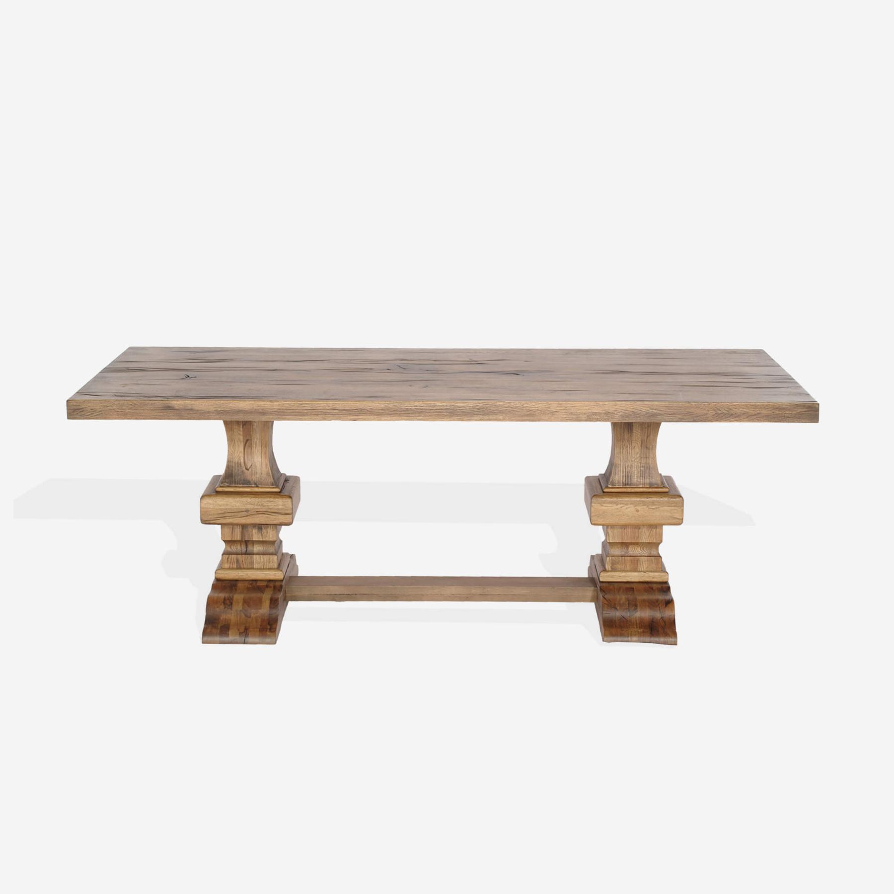 Masa din lemn de stejar salbatic Roma L200xl100xH76 cm