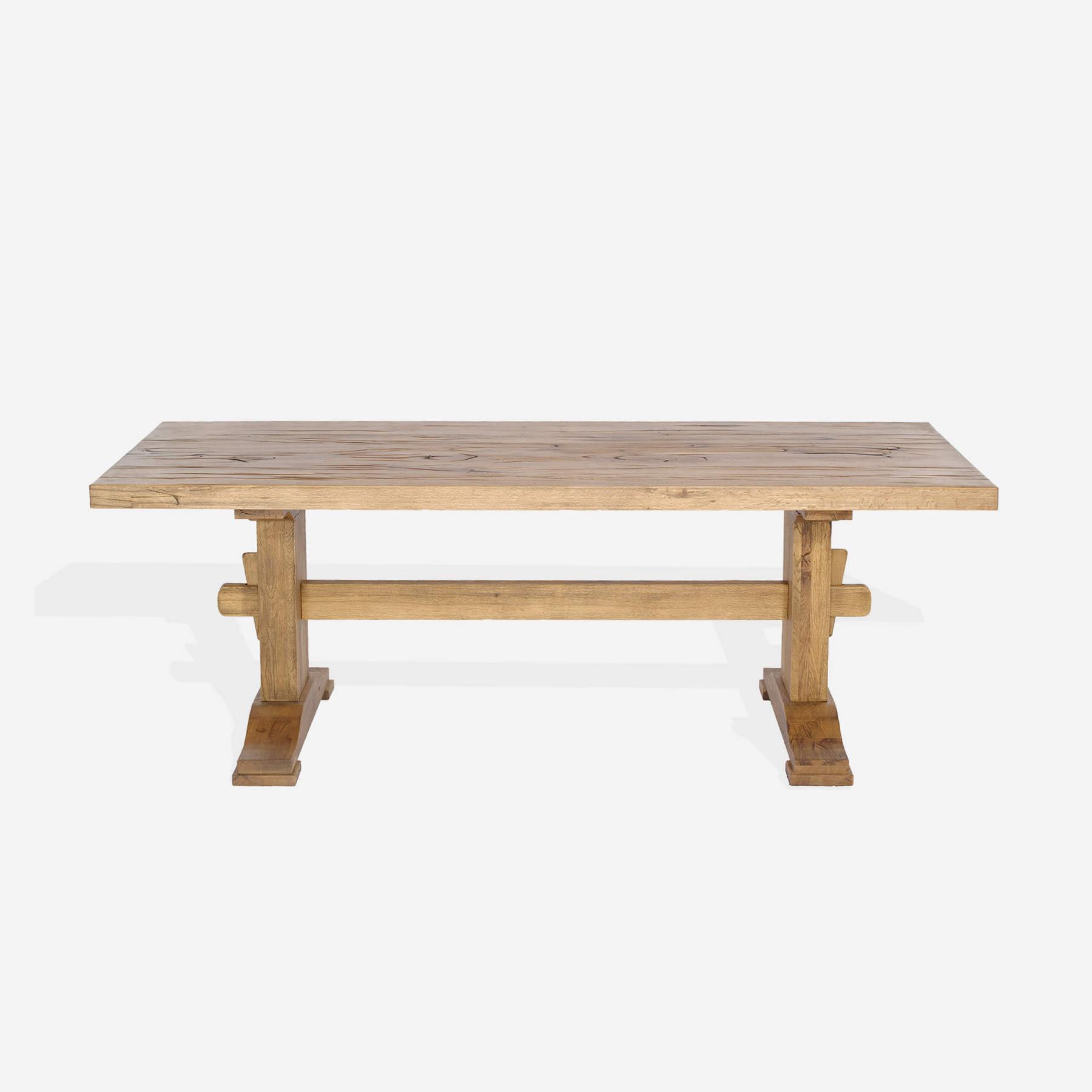 Masa din lemn de stejar salbatic Viking L220xl100xH76 cm