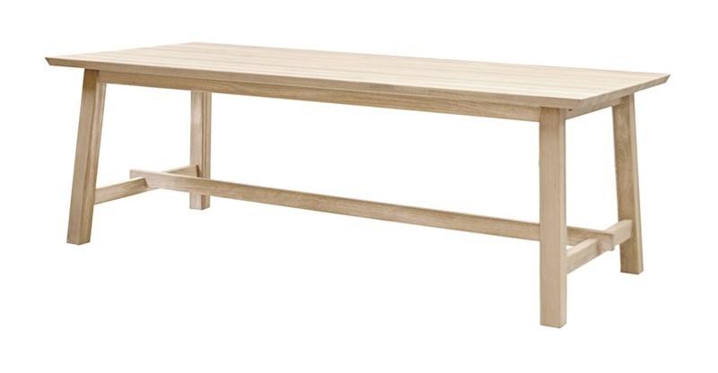 Masa din lemn Odin Ivory L220xl100xH75 cm