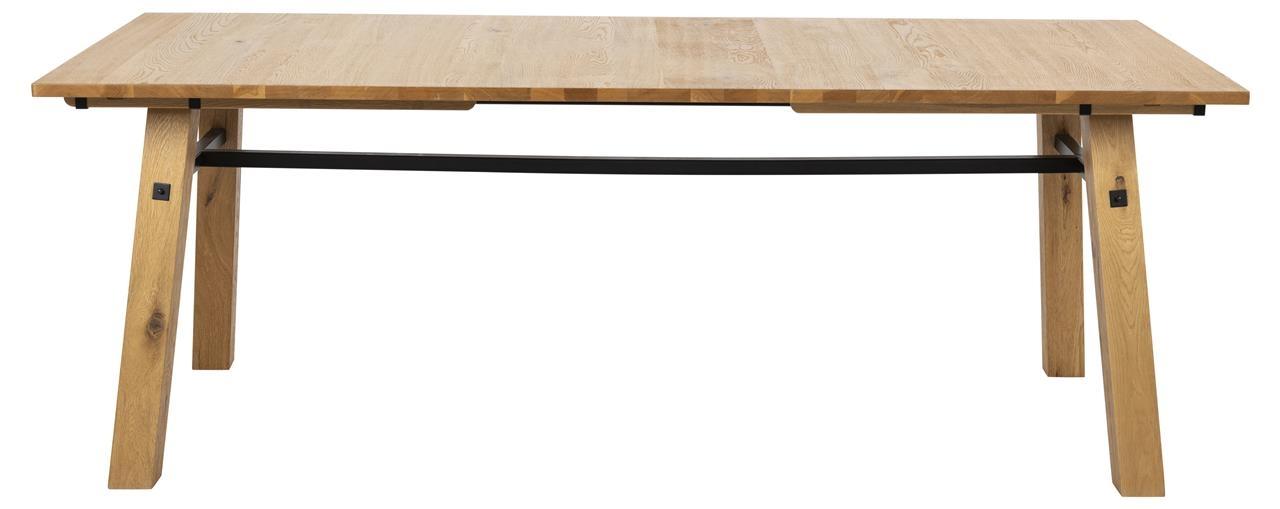 Masa din lemn si furnir Stockholm Natural, L210xl95xH75 cm imagine