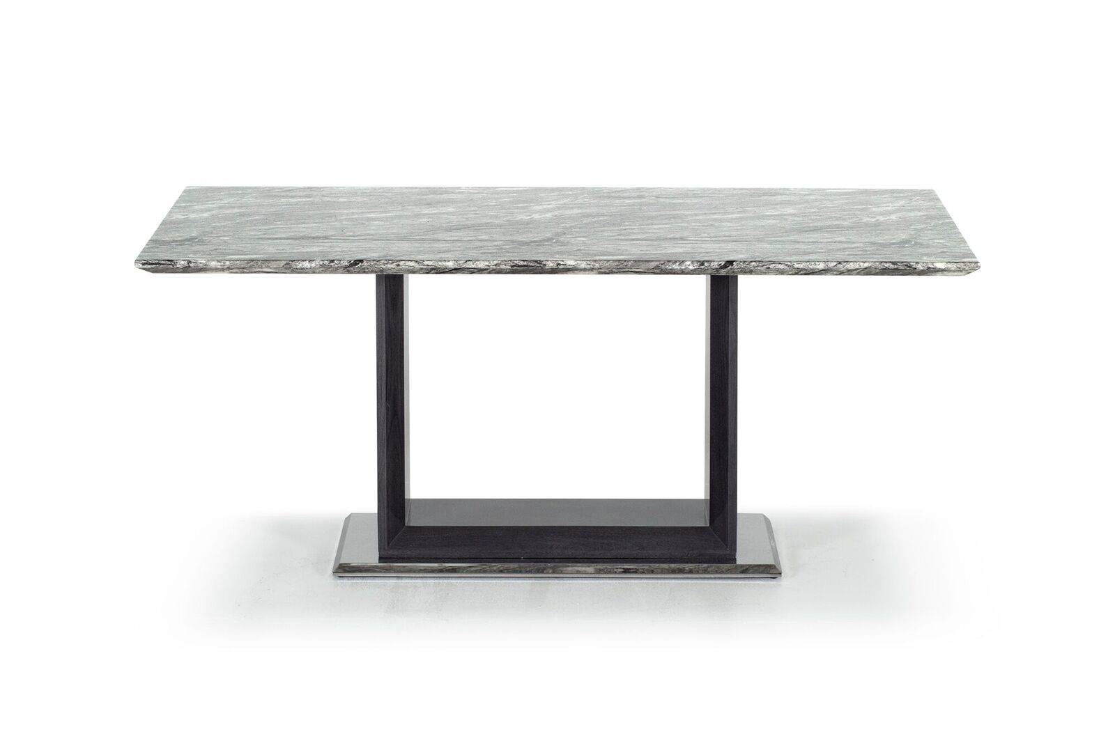 Masa din marmura si MDF Donatella Grey L160xl100xH76 cm