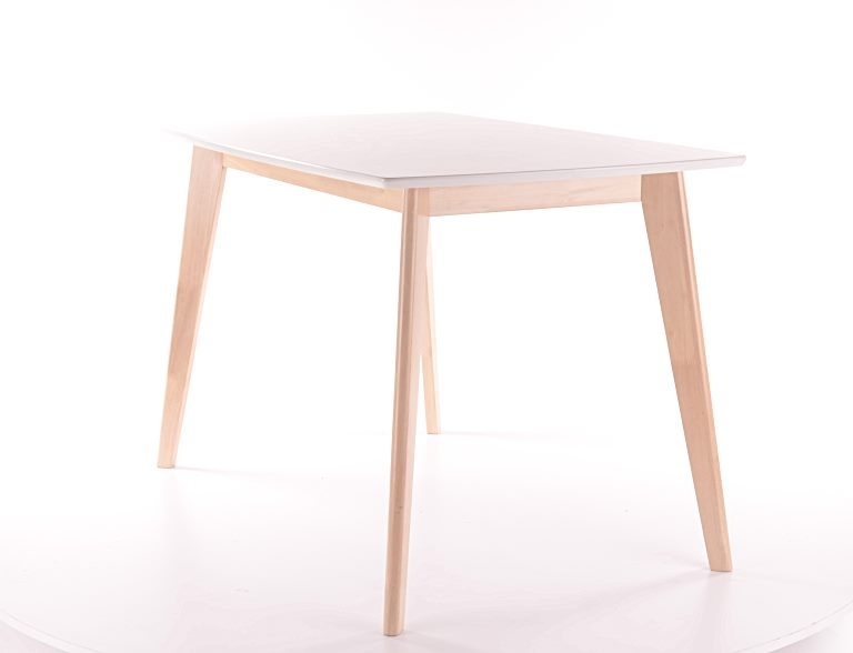 Masa din MDF si lemn Combo Alb / Stejar, L120xl75xH75 cm imagine