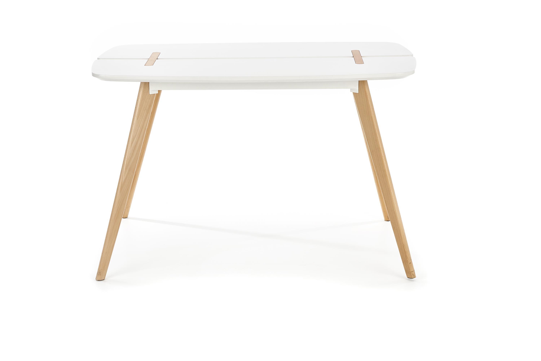 Masa din MDF si lemn David White / Beech, L120xl80xH76 cm