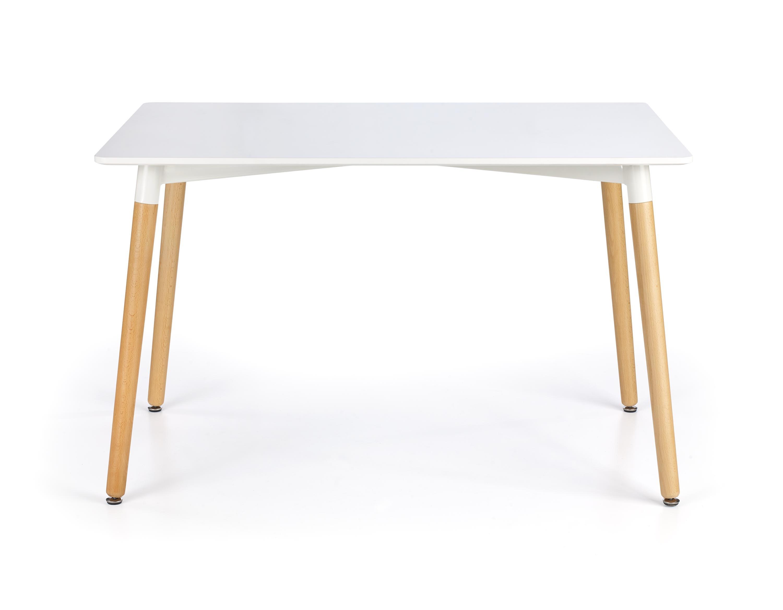 Masa din MDF si lemn Socrates White / Beech, L120xl80xH74 cm