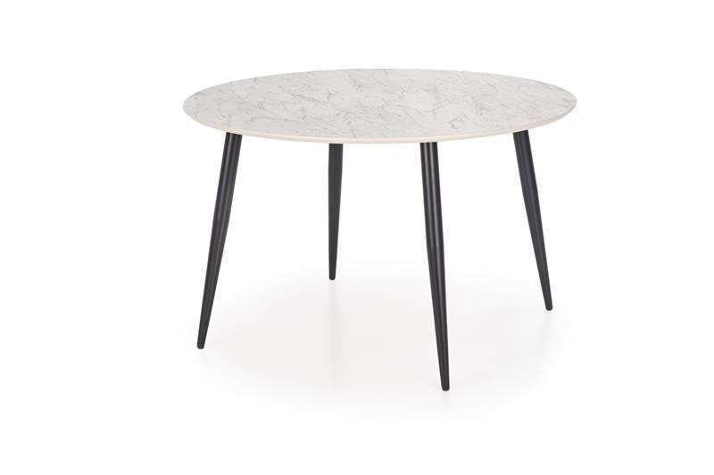 Masa din MDF si metal Belato Cream / Black, Ø120xH76 cm imagine