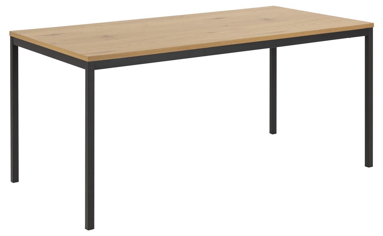 Masa din MDF si metal Seaford Large Stejar / Negru, L180xl90xH74 cm imagine