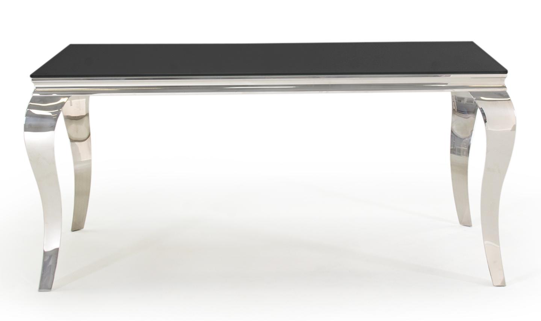 Masa din metal si sticla Louis Black L160xl90xH75 cm