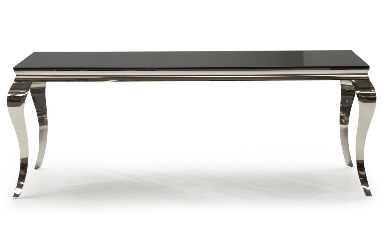 Masa din metal si sticla Louis Black L200xl100xH75 cm