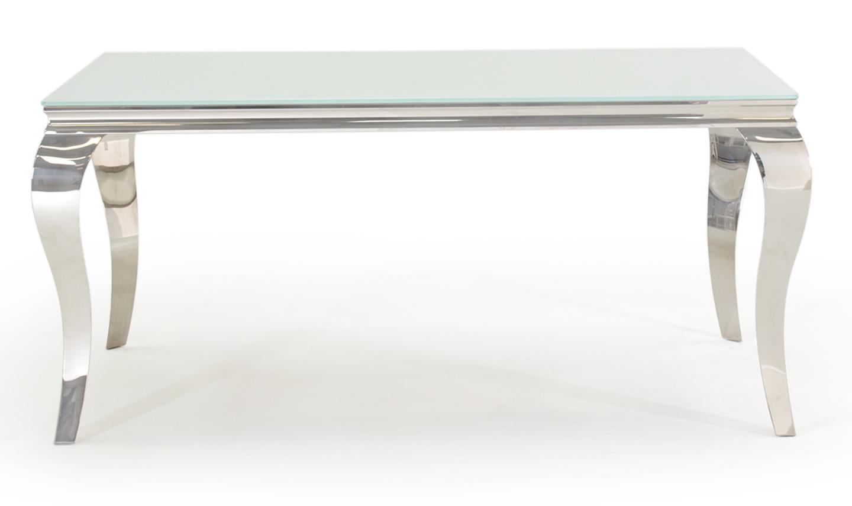 Masa din metal si sticla Louis White L160xl90xH75 cm