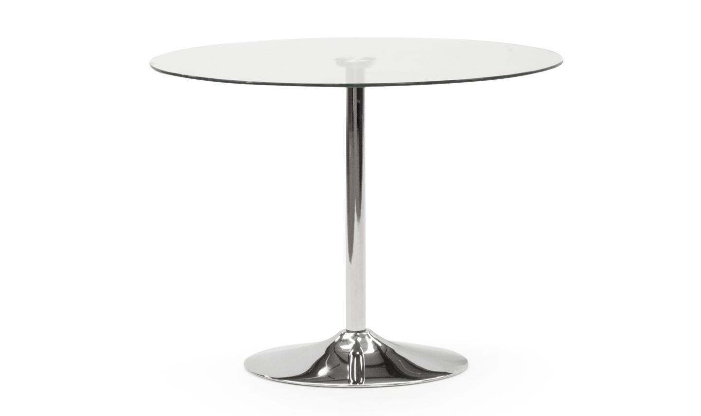 Masa din metal si sticla Orbit Clear O100xH73 cm
