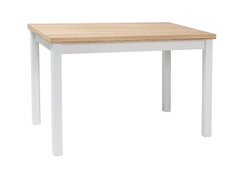 Masa din pal si MDF Anais Stejar / Alb, L120xl68xH75 cm imagine