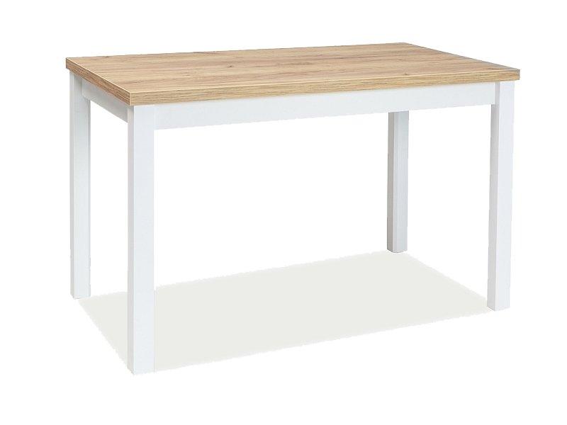 Masa din pal si MDF Anais Stejar Auriu / Alb, L100xl60xH75 cm imagine