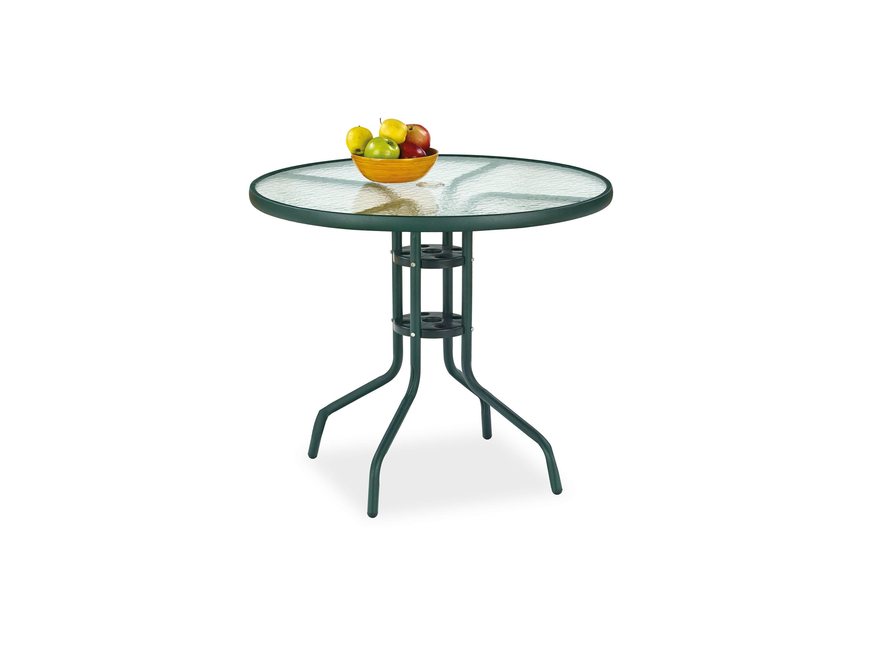 Masa din sticla cu picioare metalice Grand Verde, Ø80xh72 cm poza
