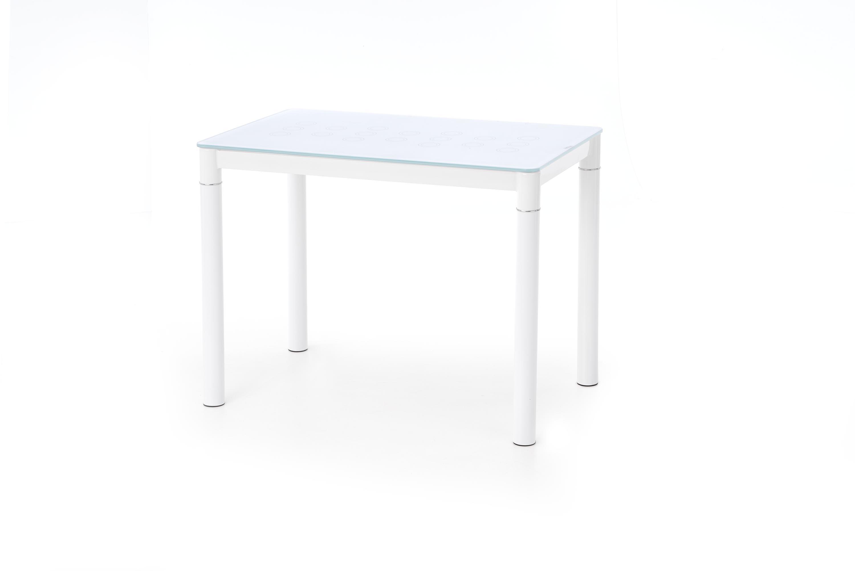 Masa din sticla si metal Argus White, L100xl60xH75 cm imagine