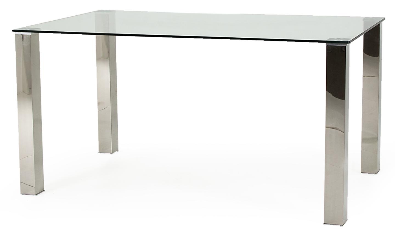 Masa din sticla si metal Mezzi Silver L150xl90xH76 cm