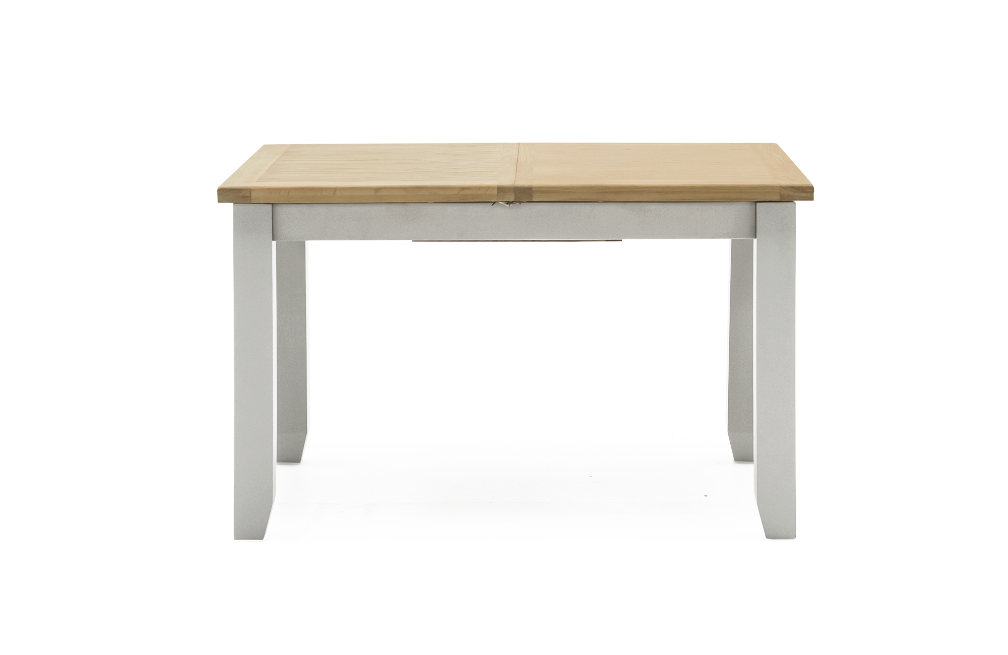Masa extensibila din lemn de pin si MDF Ferndale Grey / Oak L150-195xl90xH771 cm