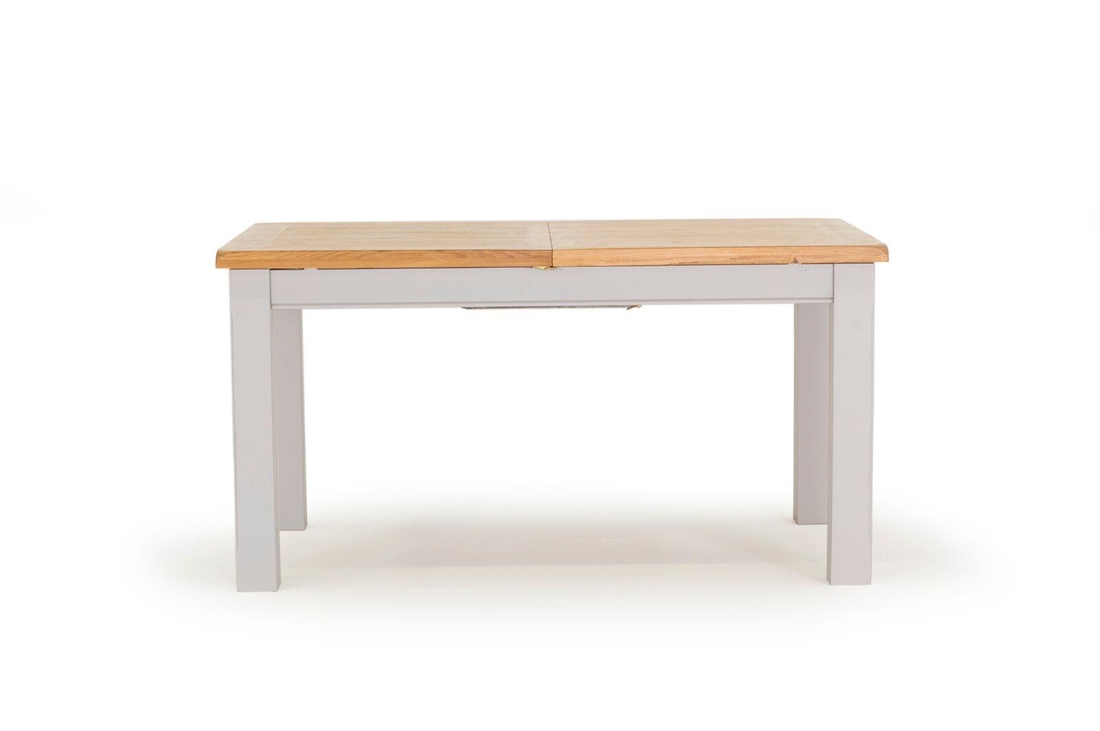 Masa extensibila din lemn de salcam si stejar Clemence Grey / Oak L150-190xl90xH78 cm