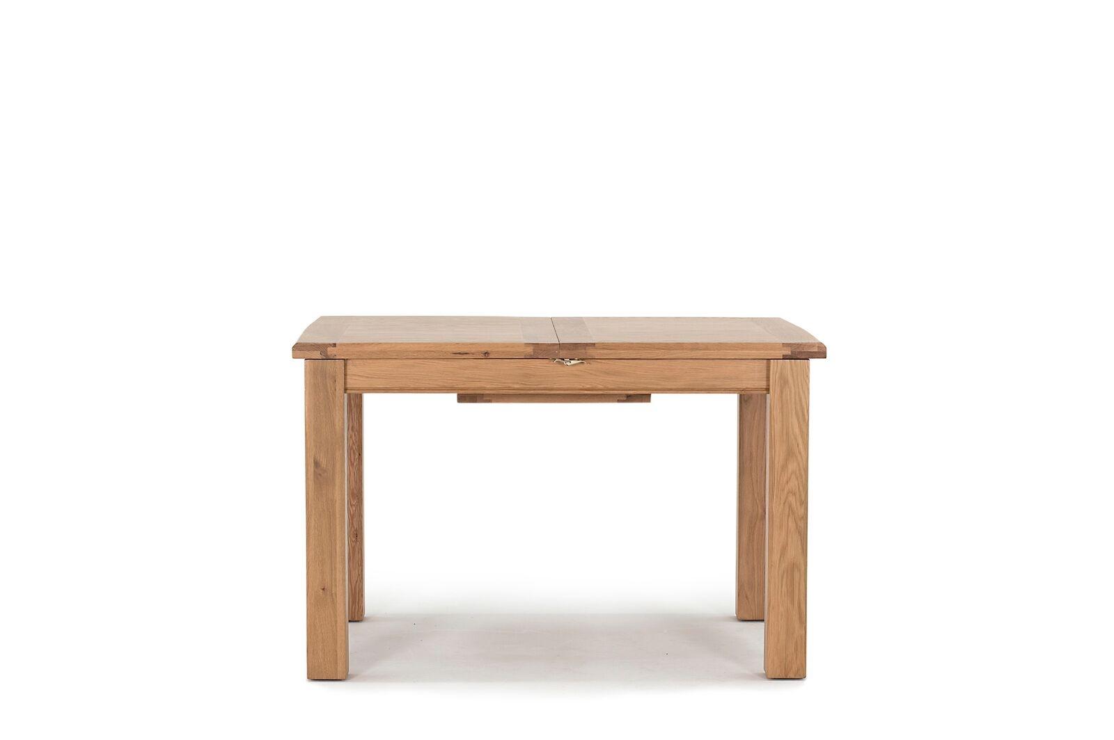 Masa extensibila din lemn de stejar si furnir Breeze Oak L120-165xl85xH78 cm