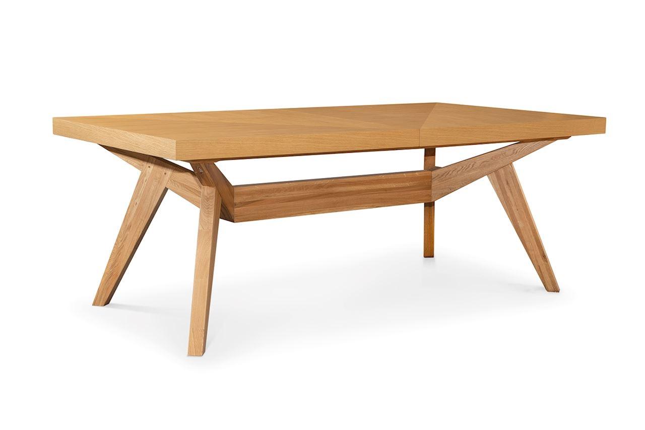 Masa extensibila din lemn si furnir Borneo Oak L200-300xl100xH76 cm