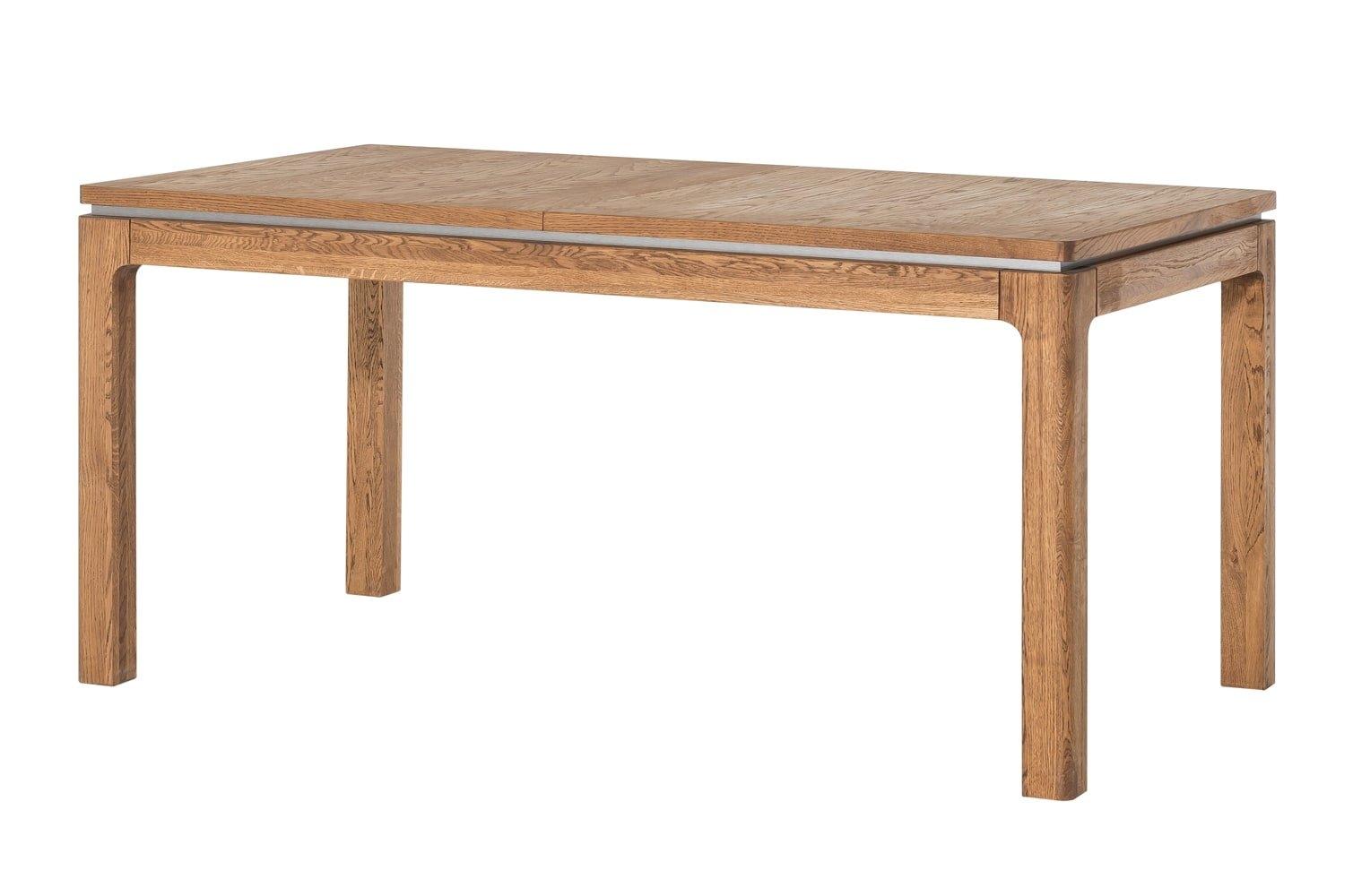 Masa extensibila din lemn si furnir Montenegro 40 Stejar Rustic, L160-250xl90xH76 cm imagine