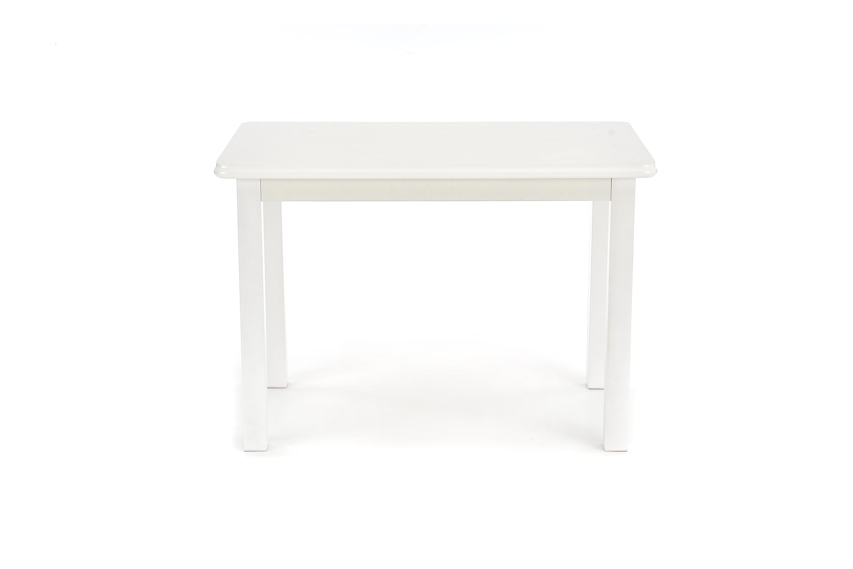 Masa extensibila din MDF si lemn de fag Dinner White, L120-158xl68xH74 cm