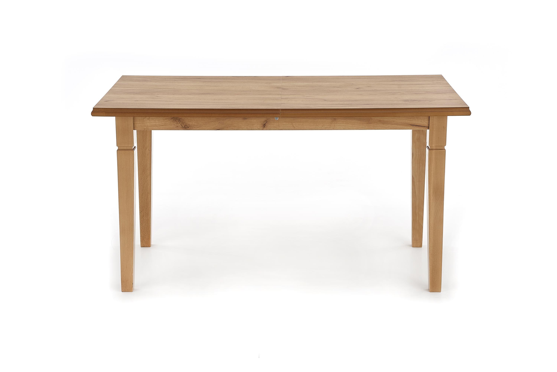 Masa extensibila din MDF si lemn de fag Marcel Oak, L140-180xl80xH75 cm imagine
