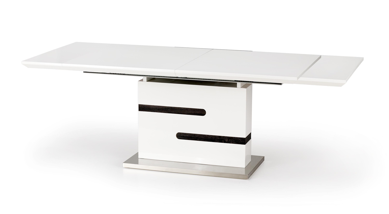Masa extensibila din MDF si metal Monaco White / Grey, L160-220xl90xH76 cm imagine