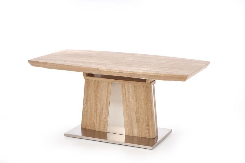 Masa extensibila din MDF si metal Rafaello Sonoma Oak, L160-220xl90xH76 cm