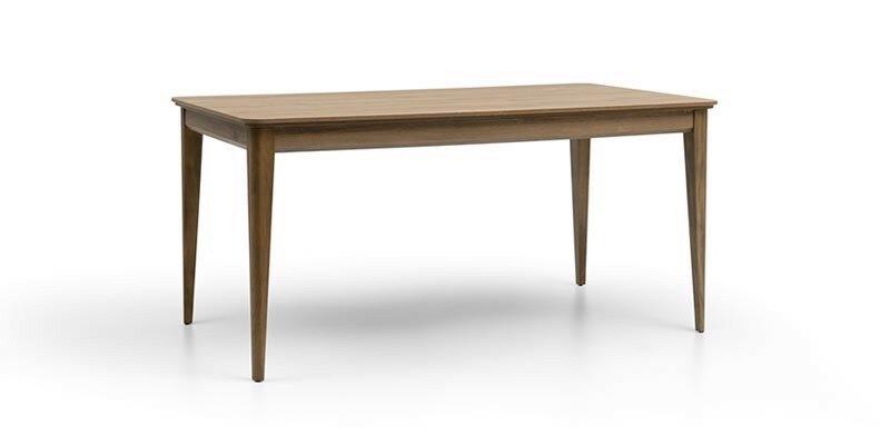 Masa extensibila din pal si lemn de fag Piante Nuc, L160-200xl90xH76,1 cm imagine