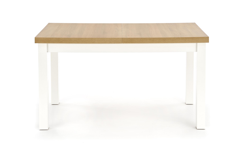 Masa extensibila din pal si MDF Tiago 2 Riviera Oak / White, L140-220xl80xH76 cm
