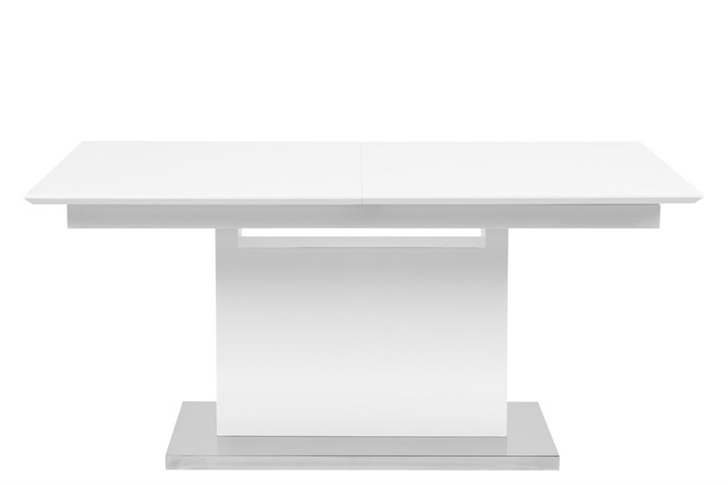 Masa extensibila din furnir Trace White L160-220xl90xH75 cm
