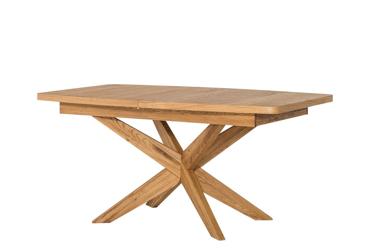 Masa extensibila din lemn de stejar si furnir Velle 39 Oak, L160-210xl95xH77 cm