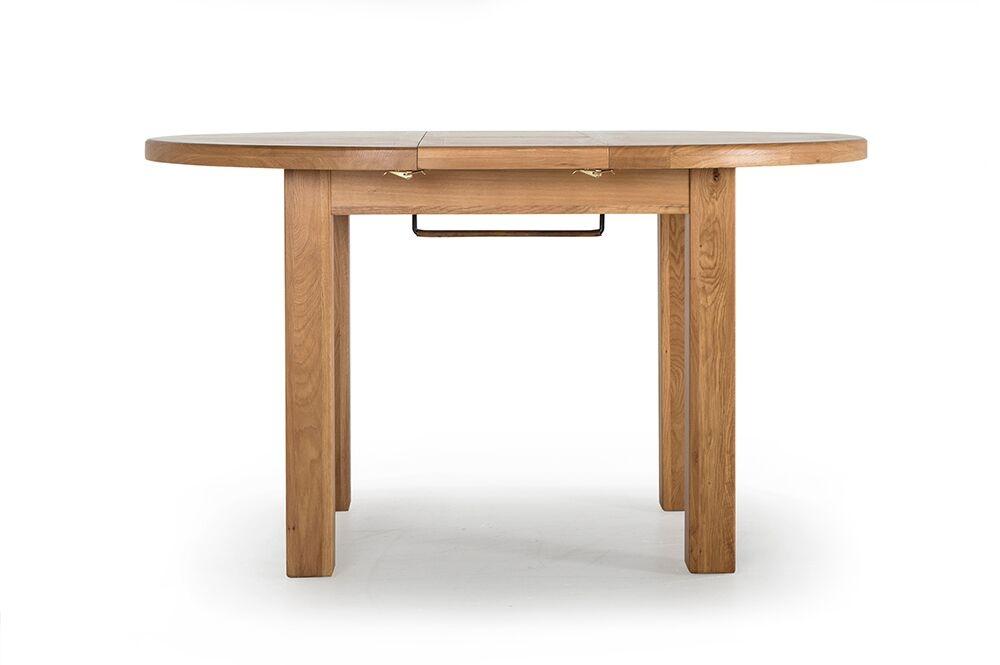 Masa extensibila din lemn de stejar si furnir Hampshire Oak L107-140xl107xH77 cm