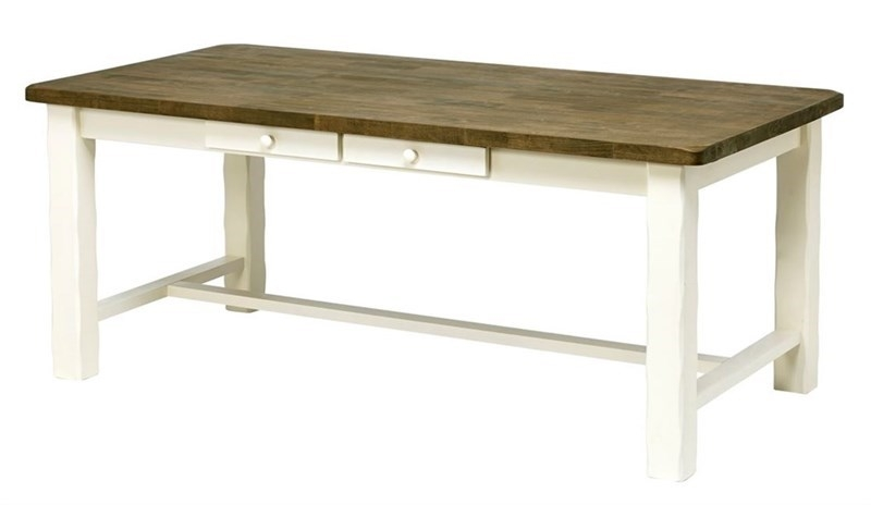 Masa din lemn de cauciuc Lyon Brown / White L190xl95xH766 cm