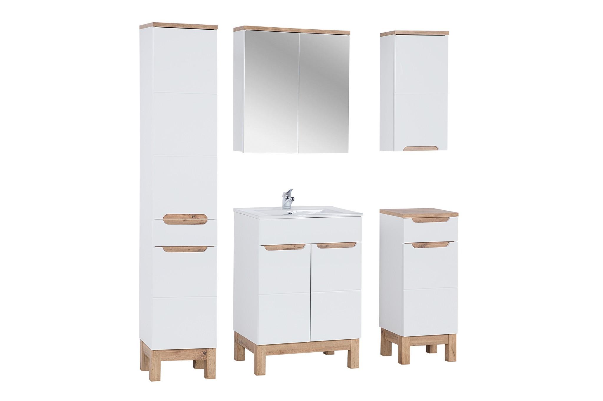 Set Mobilier pentru baie, 6 piese, Bali White imagine