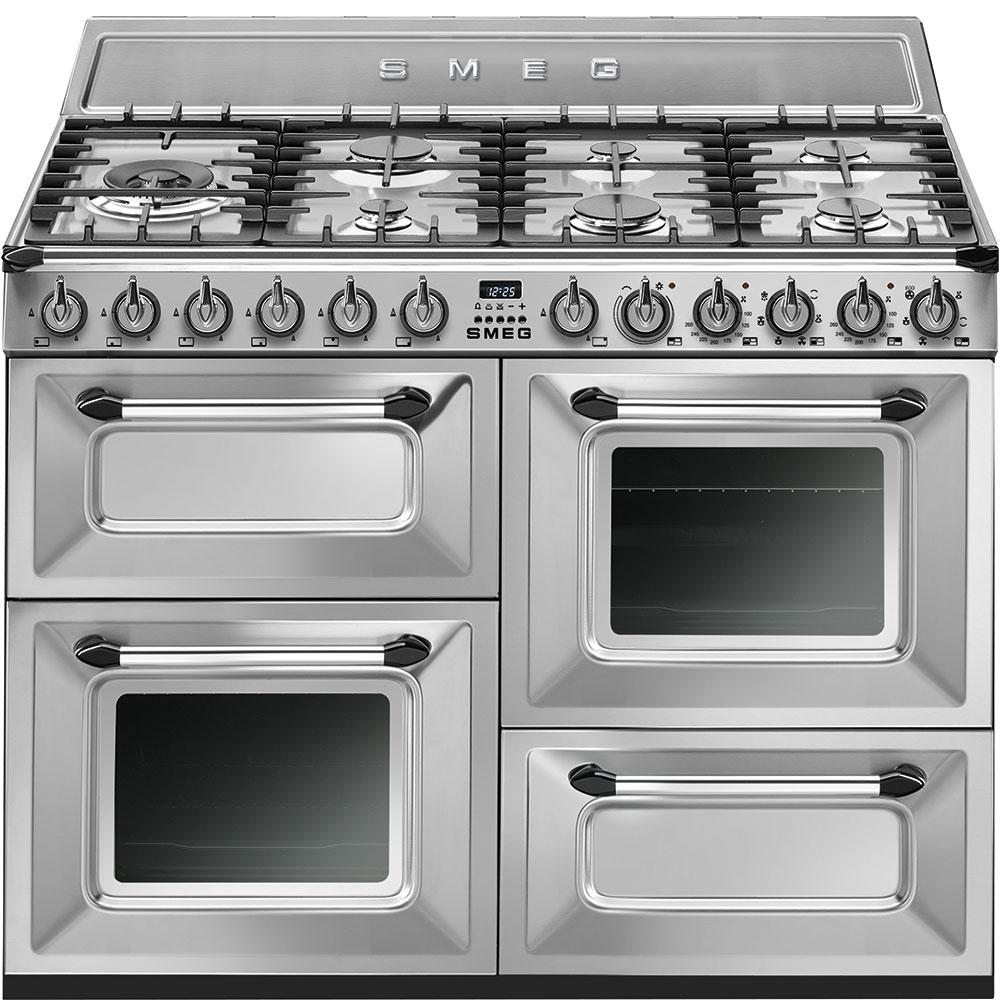 Masina de gatit cu 3 cuptoare TR4110S1, Argintiu, 110×60 cm, Victoria, SMEG